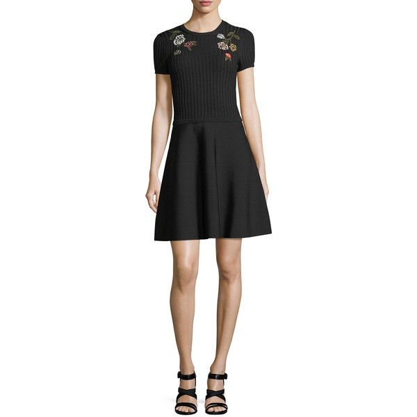 knitted flared dress - Black Valentino ohBtWSY