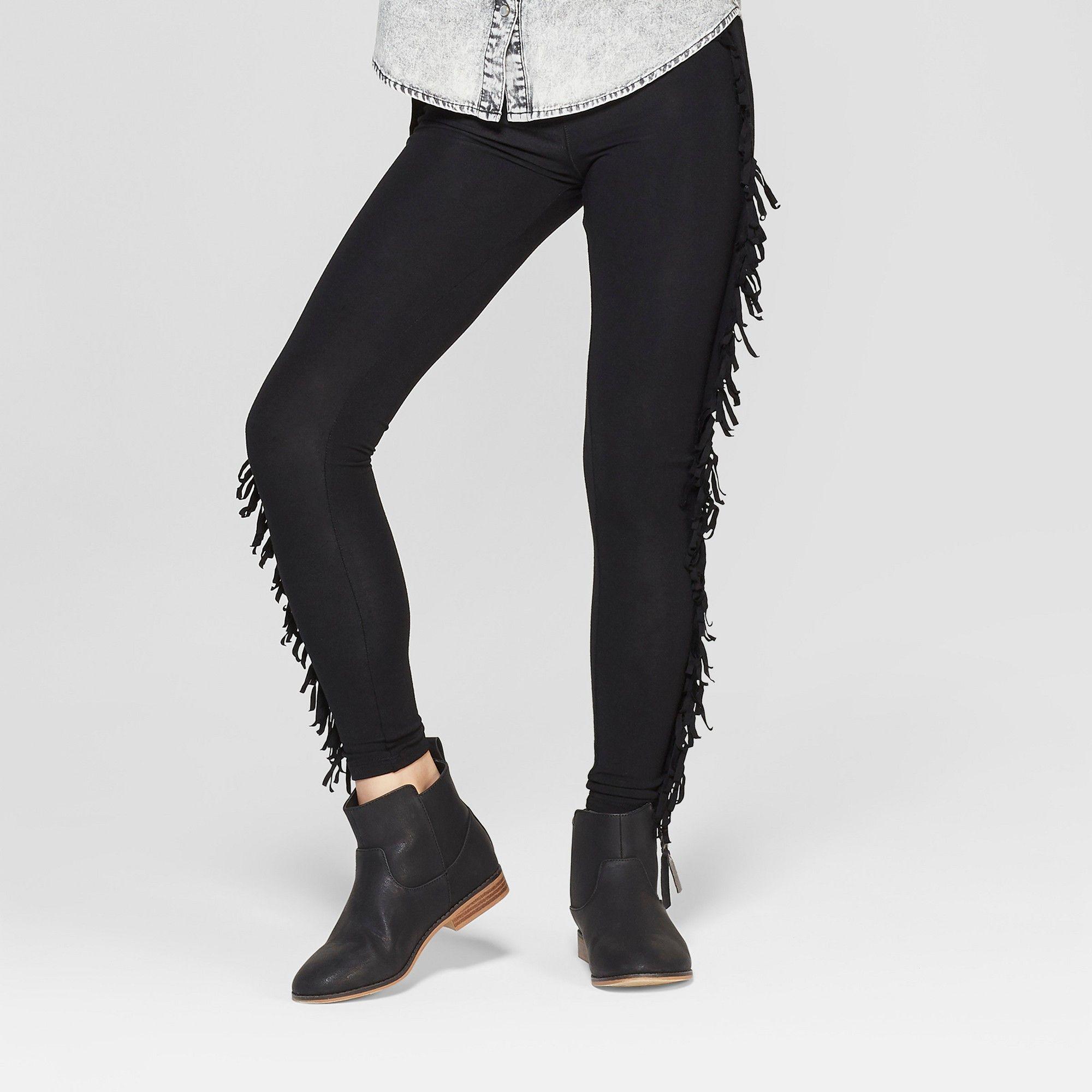 47ce76c338b4 Girls' Leggings with Fringe - art class Black Xxl