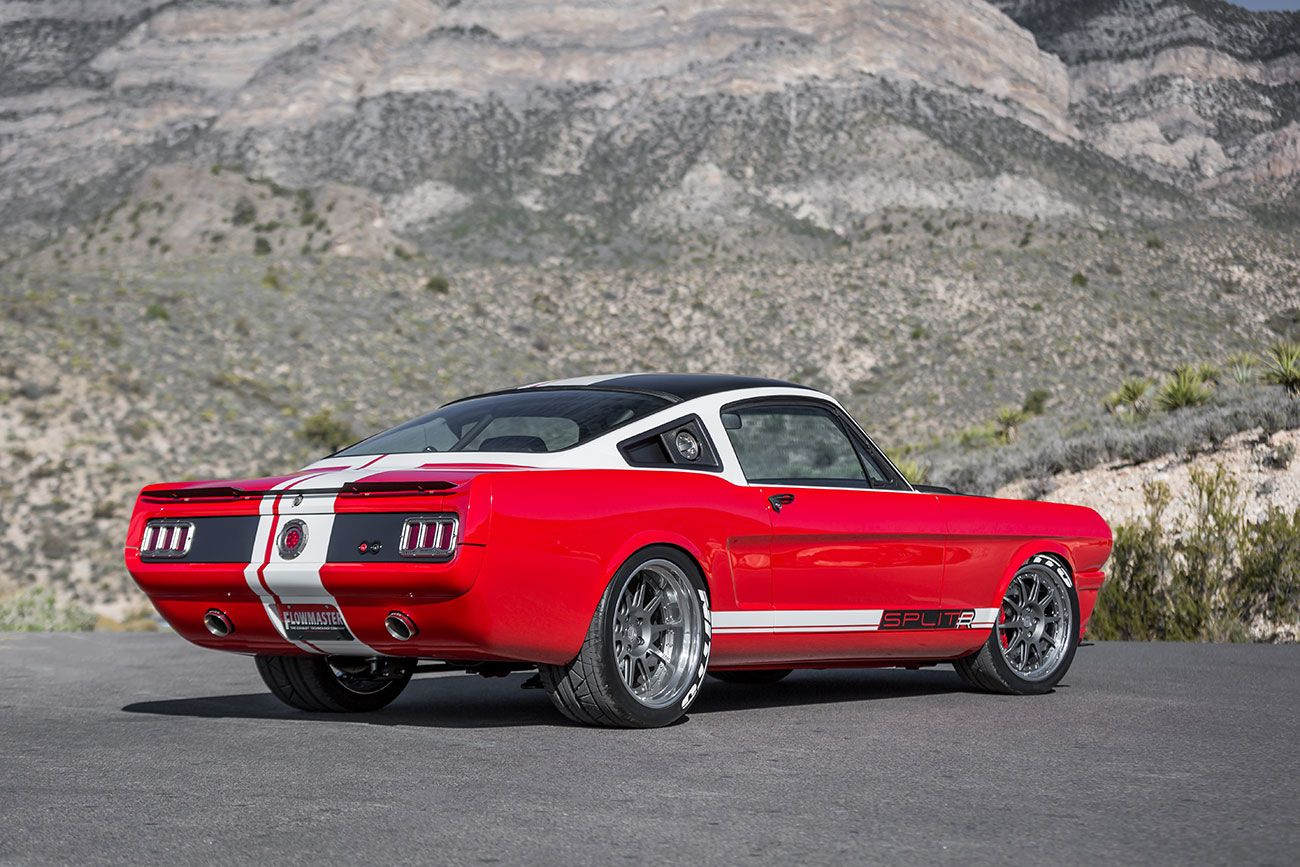 This beautiful splitr unveiled by ringbrothers at the sema show is based around 1965 ford mustang while the car amazed those who managed to attend the