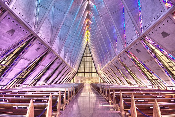 Air Force Academy Chapel. The Inside, I can already see myself walking down that aisle. ;)