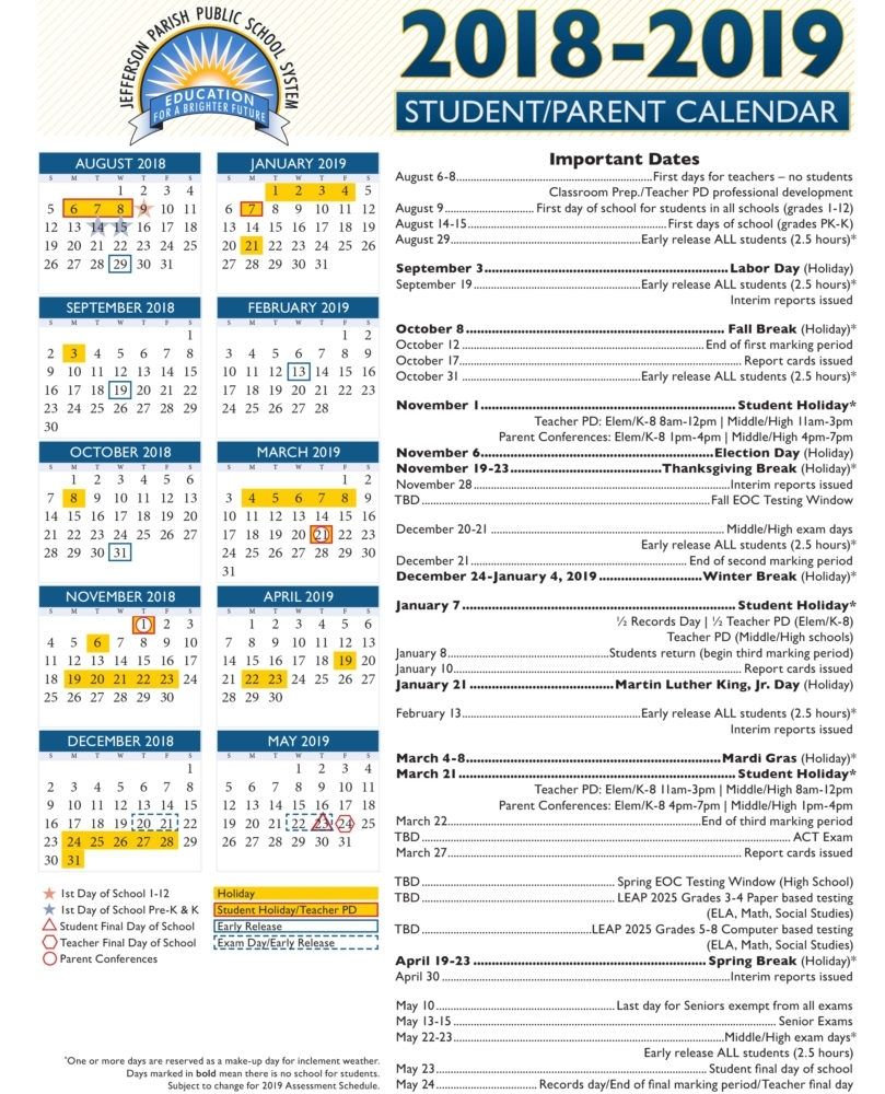 Collect Dep Ed Calendar 2019 From Month Of August To September