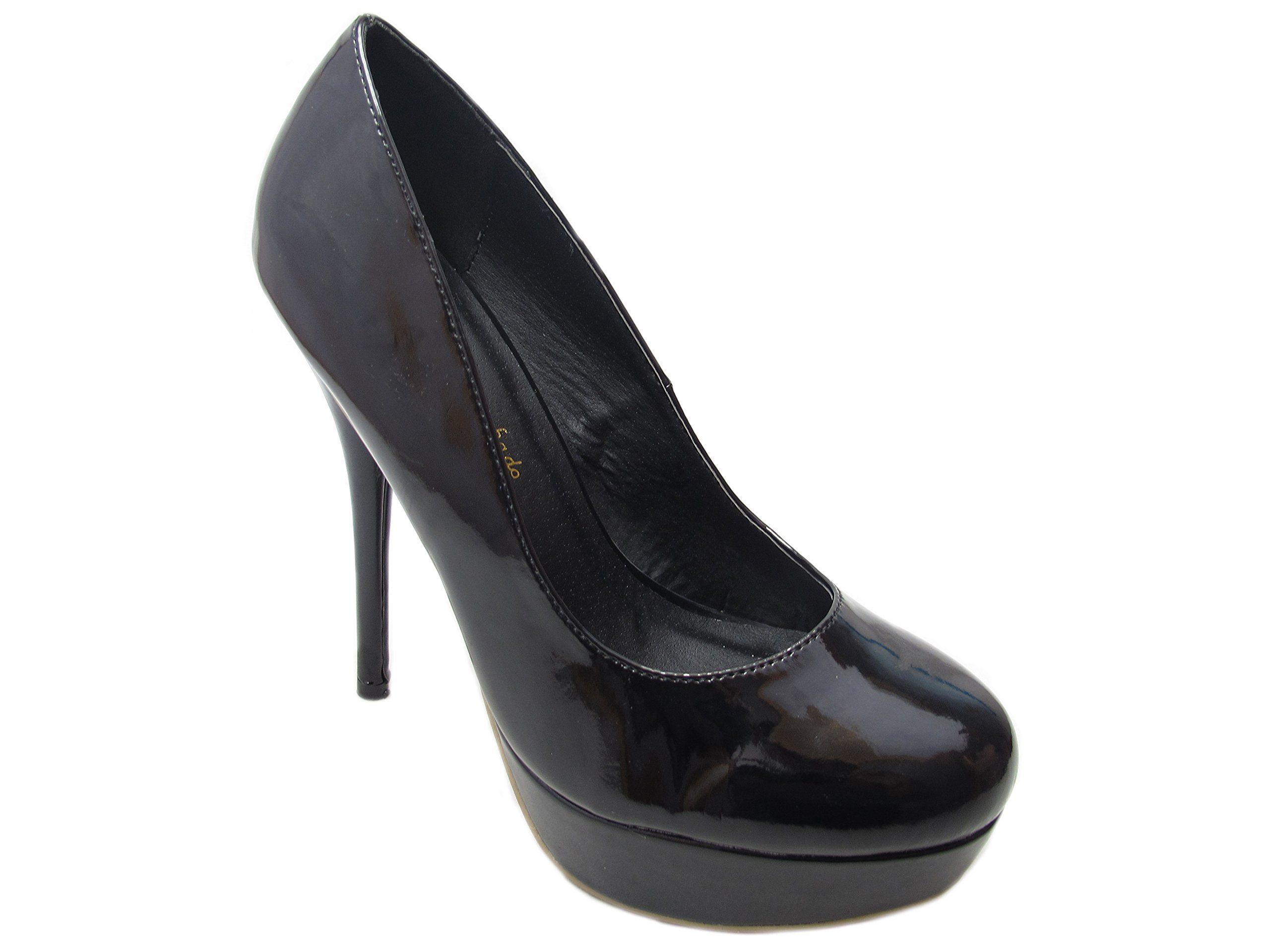 TUK Creeper Platform Heel, Escarpins femme - Noir (Black With Black Interlace), 36 EUT.U.K.