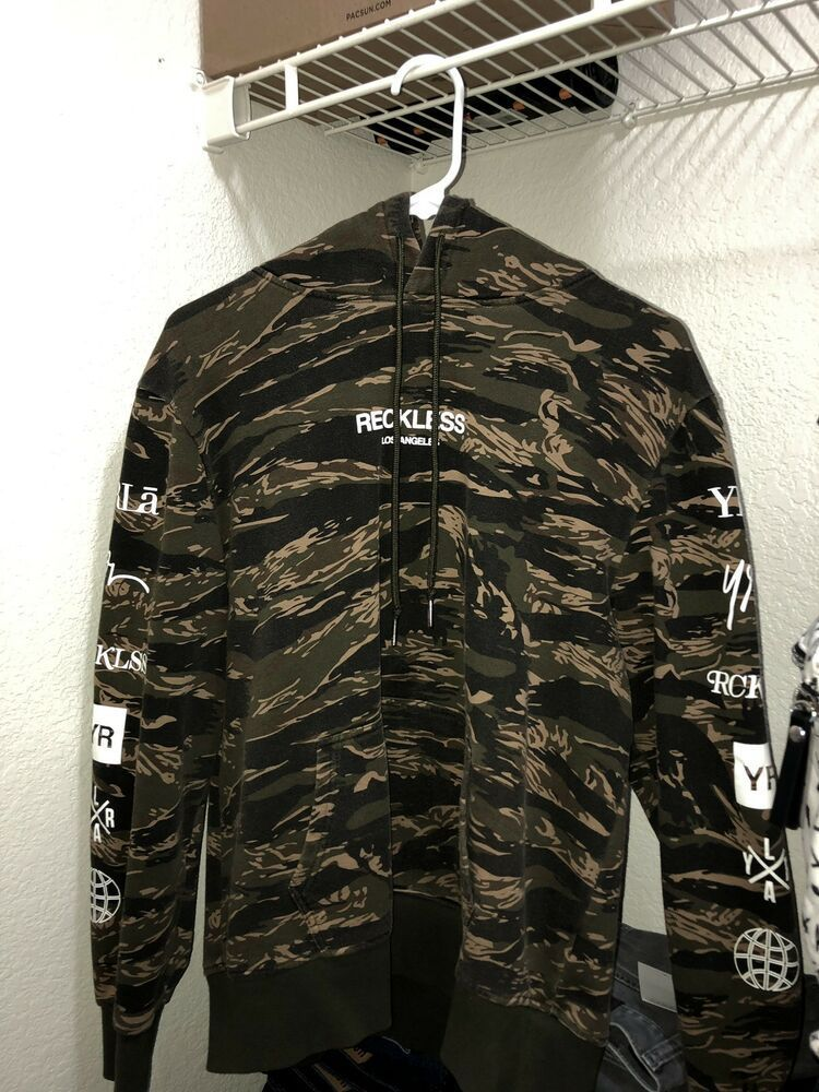 eBay link) Young and Reckless Camouflage Hoodie #fashion