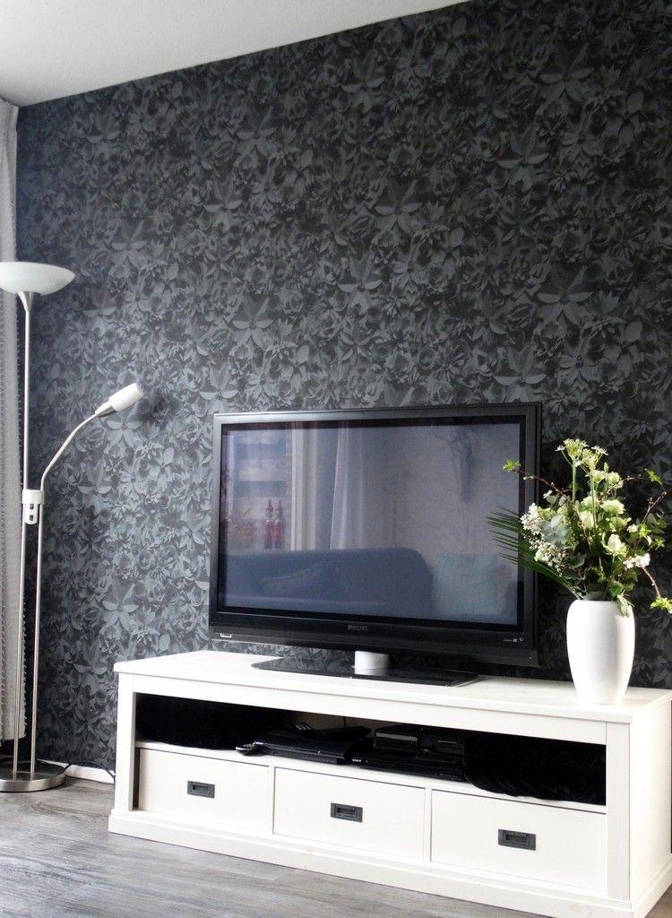 Tapete in Schwarz fürs Wohnzimmer \u2013 25 Ideen und Beispiele - wohnzimmer design schwarz