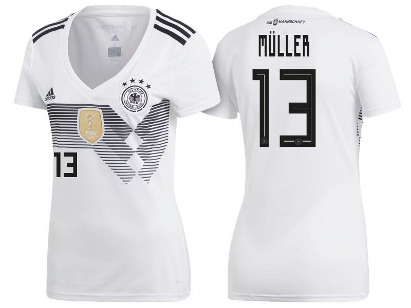reputable site 9cd0f 14efd 2018 Germany World Cup Football Shirt thomas muller Women ...