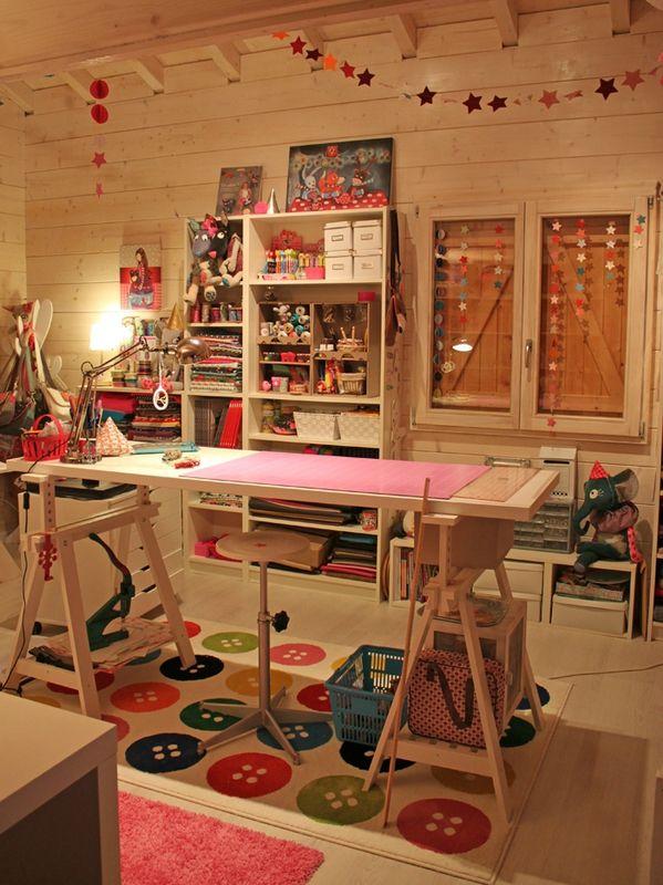l atelier de mes r ves ateliers rangements sewing rooms pinterest laetibricole. Black Bedroom Furniture Sets. Home Design Ideas