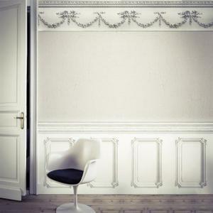 Papier Peint Soubassement Haussmannien Blanc Rouleau 10m Achat