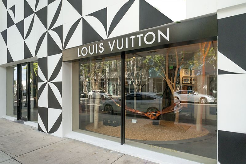 New Mural On The Louis Vuitton Store In The Miami Design District