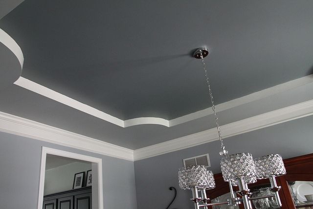 Great way to paint a tray ceiling and break up the colors for How to paint a bedroom ceiling