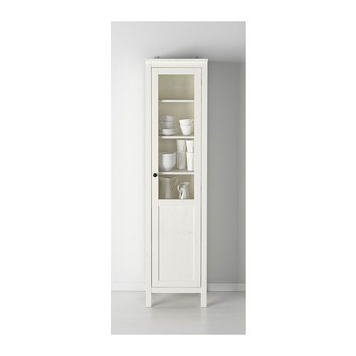 Bathroom storage in girls bathroom HEMNES Cabinet with panel/glass