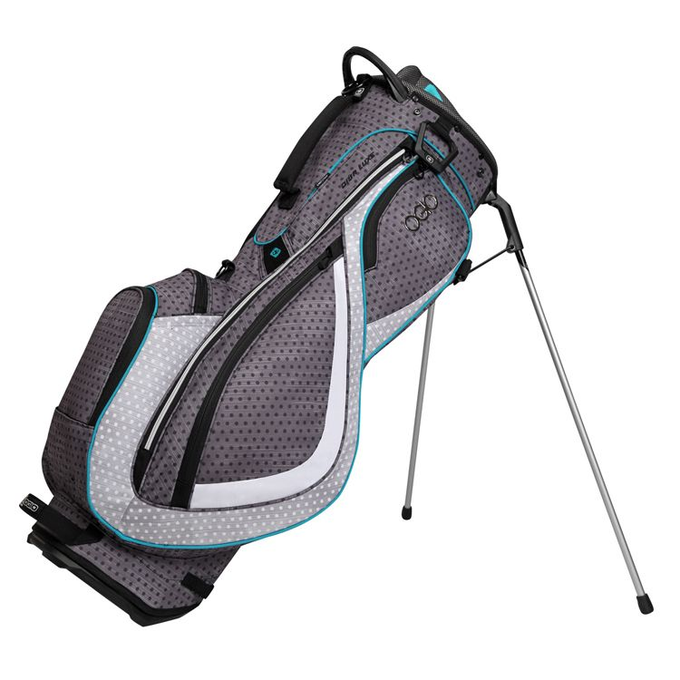Ogio Diva Luxe Womens Golf Bag Black Polka Dot Aqua