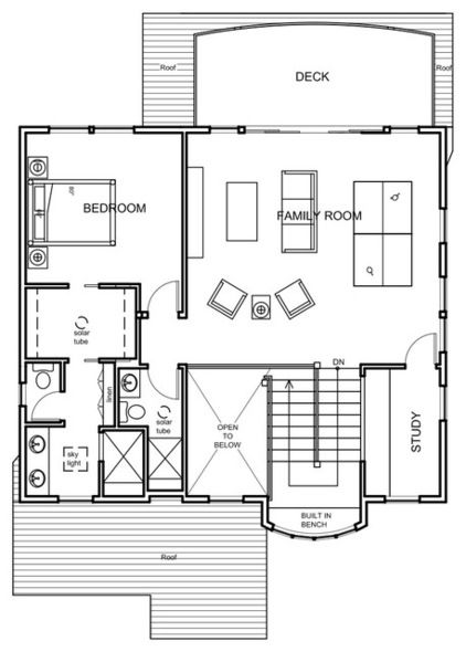 Contemporary Floor Plan Houzz Tour Coastal New England Style Meets Pacific Northwest Modern House Plans Small Craftsman House Plans Small House Plans
