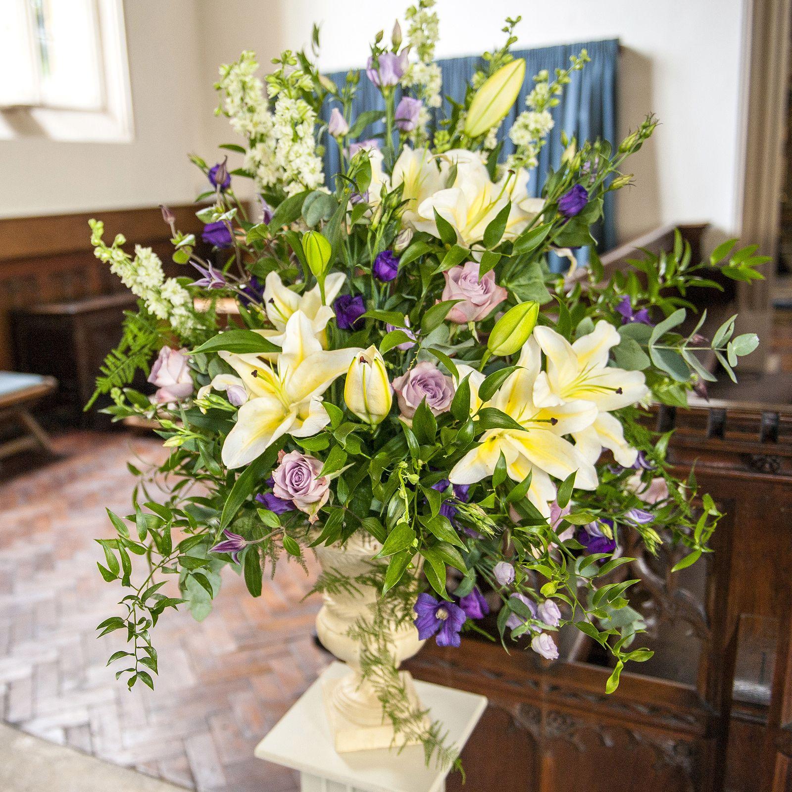 Floral Urns For Weddings: Wedding Flower Ideas