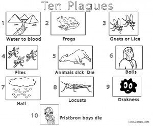 Moses Coloring Pages Ten Plagues Bible Coloring Pages