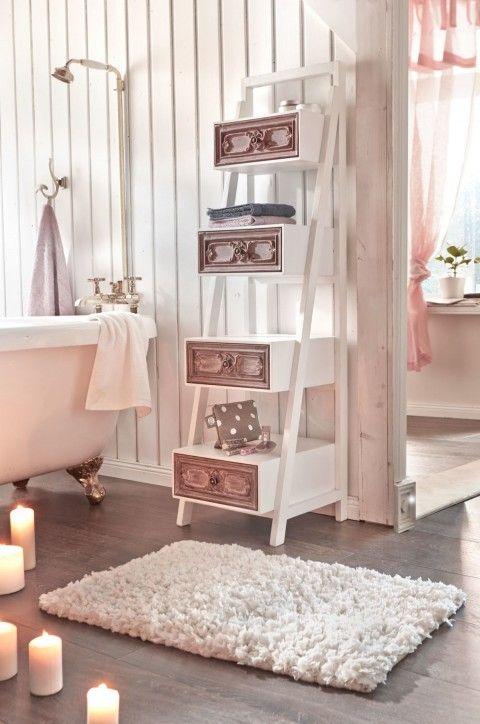 Badematte Weiß, badematten, badvorleger, schöne badematten - badezimmer ideen bilder