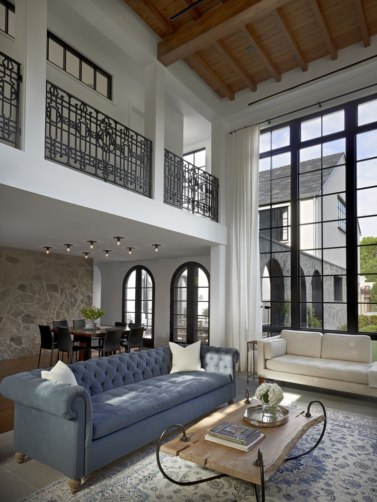 Modern Classic Living Room Interior Design: Stately House With Traditional Architectural Forms And