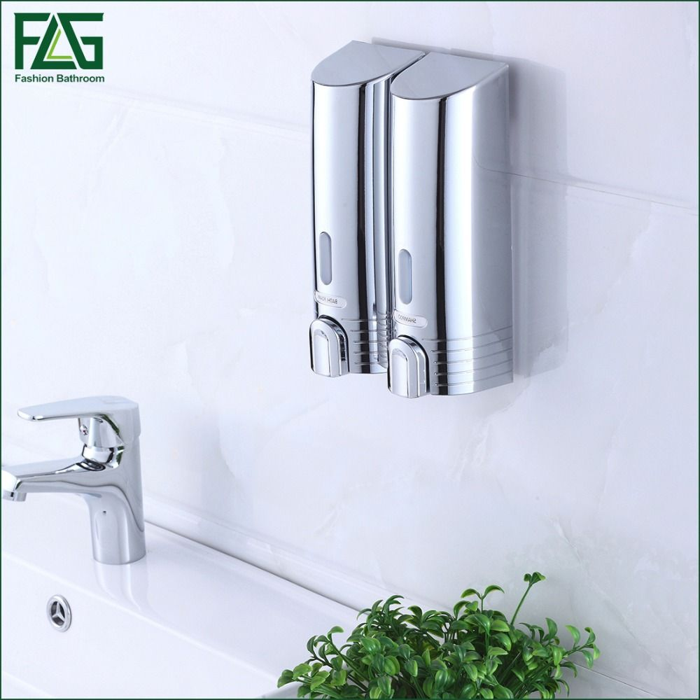 FLG Cheapest Double Soap Dispenser Wall Mounted Soap Shampoo ...