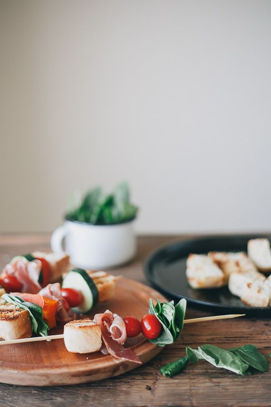 ciabatta panzanella kabobs with honey goat cheese dressing my name is yeh artofcheese. Black Bedroom Furniture Sets. Home Design Ideas
