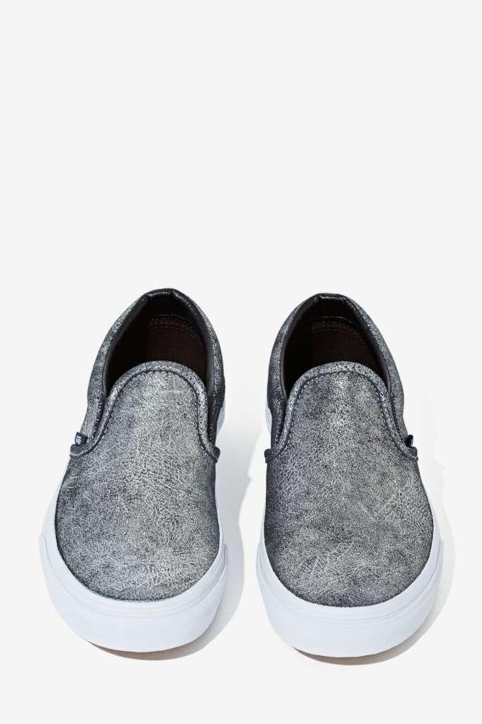 0b52e10cbed Buy vans metallic silver slip on shoes   OFF33% Discounts