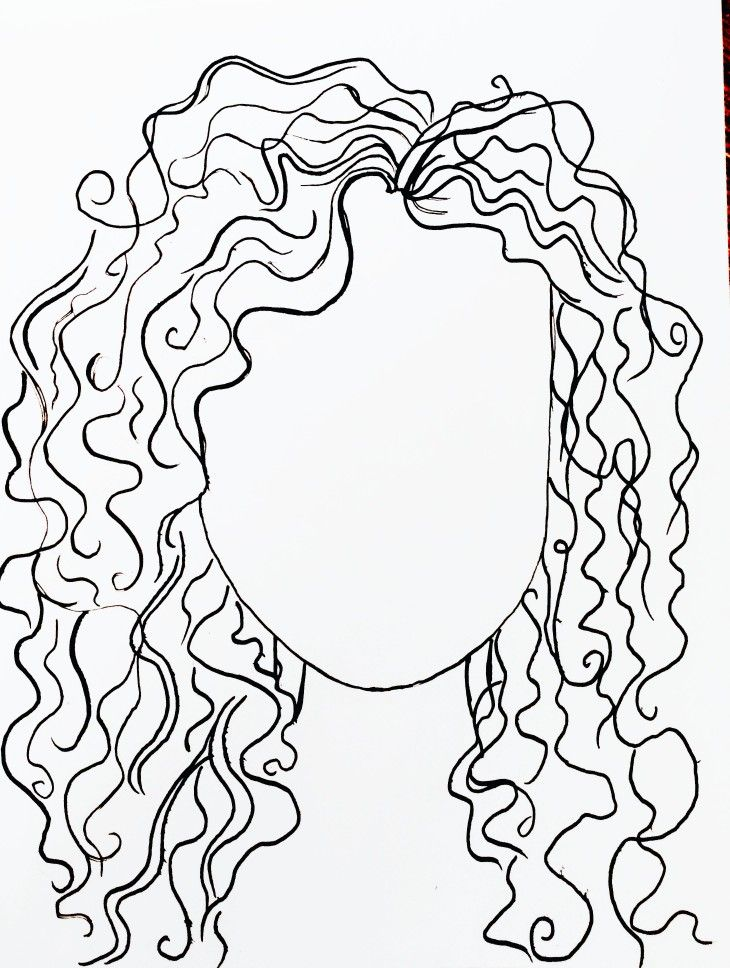 Art And Sketchbook Curly Hair How To Draw Curly Hair Trying Art Pins Curly Hair Drawing Line Art Drawings Hair Sketch