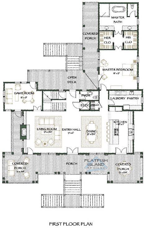 Carolina Kite Flatfish Island Designs Llc House Plans Floor Plans Cottage House Plans