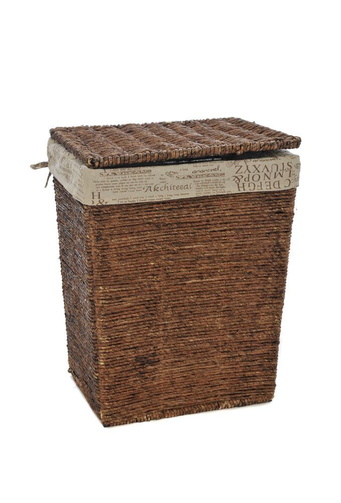 Large Wicker Laundry Basket Linen Bin Bathroom Kitchen Storage