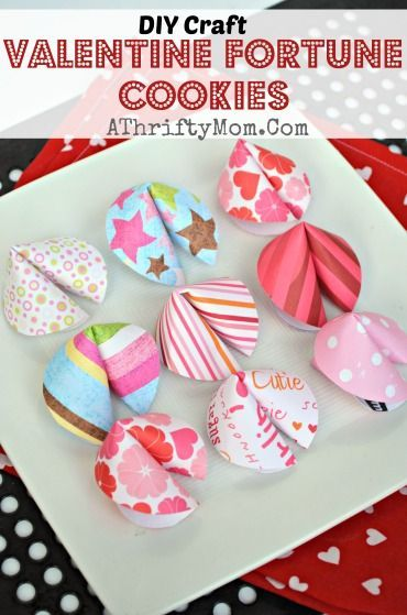 valentines fortune cookies diy craft valentine 39 s day crafts and decorating pinterest. Black Bedroom Furniture Sets. Home Design Ideas