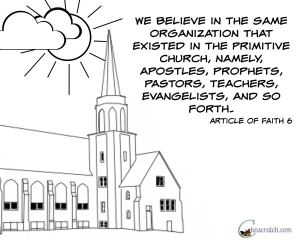 Love this Article of Faith 6 coloring page (great with