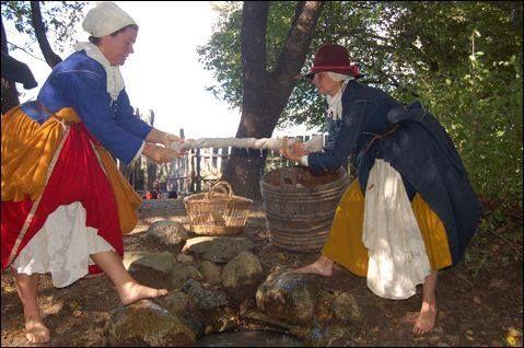 Wringing Out The Wash Plimoth Laundry Pilgrim