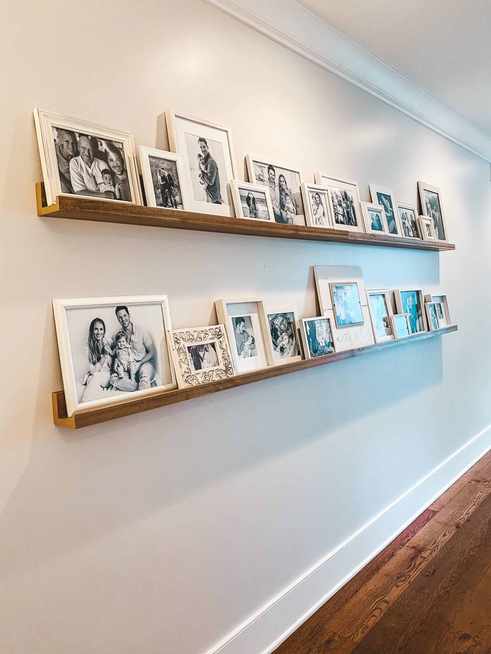 Photo of DIY Gallery Wall | How To Style A Photo Ledge Shelf