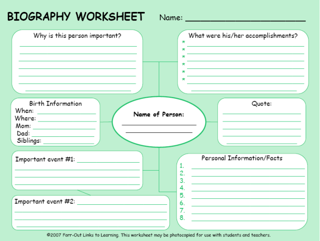 photo about Printable Biography Worksheets named Biografías Biographies Faculty Coaching, Biography