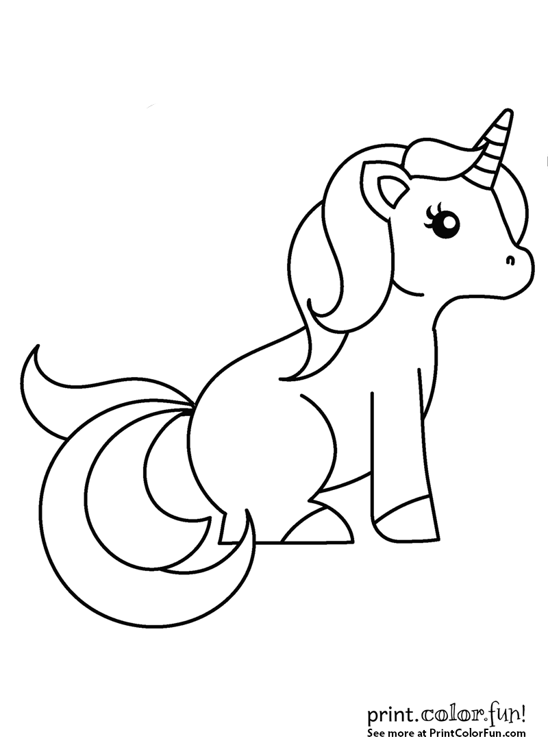 This cute little unicorn is all ready for you to add a little color click on the picture to see a larger printable version more coloring pages you