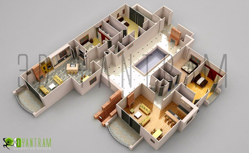 Commercial Office 3d Floor Plan Floorplans