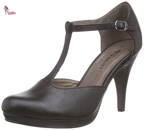 24314, Escarpins Femme, Noir (Black Leather), 42 EUTamaris