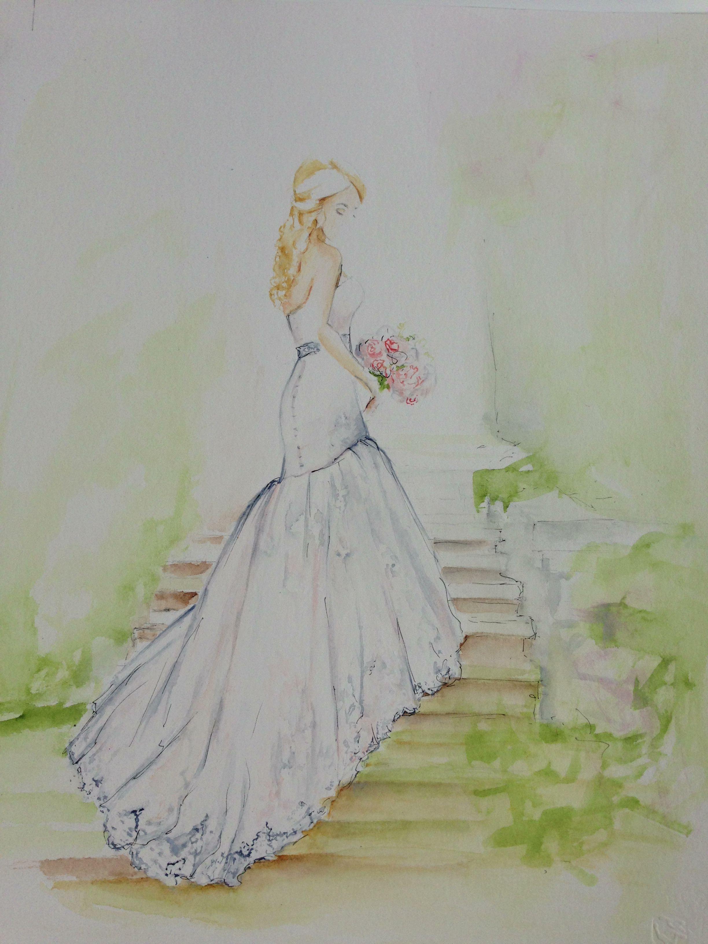 Wedding Dress Paintings By Dianebronstein Com Painted Wedding
