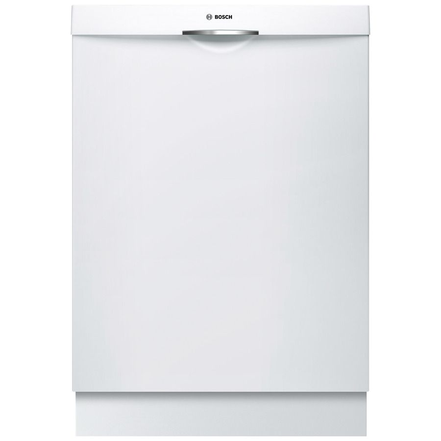 Bosch Ascenta 46 Decibel Top Control 24 In Built In Dishwasher White Energy Star Lowes Com Built In Dishwasher Dishwasher White Portable Dishwasher