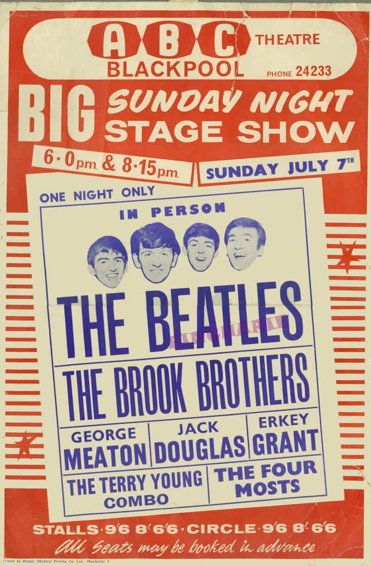 the beatles posters | poster advertising the beatles ...