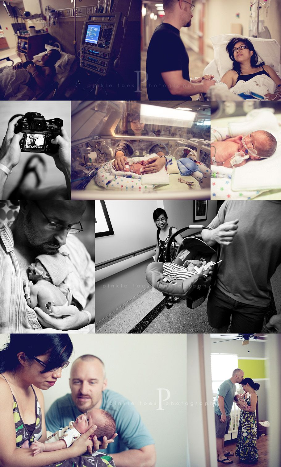 nicu birth photography from pinkletoes~ absolutely beautiful photography documentation on the blog!  Leaving the hospital with out your baby is the hardest!