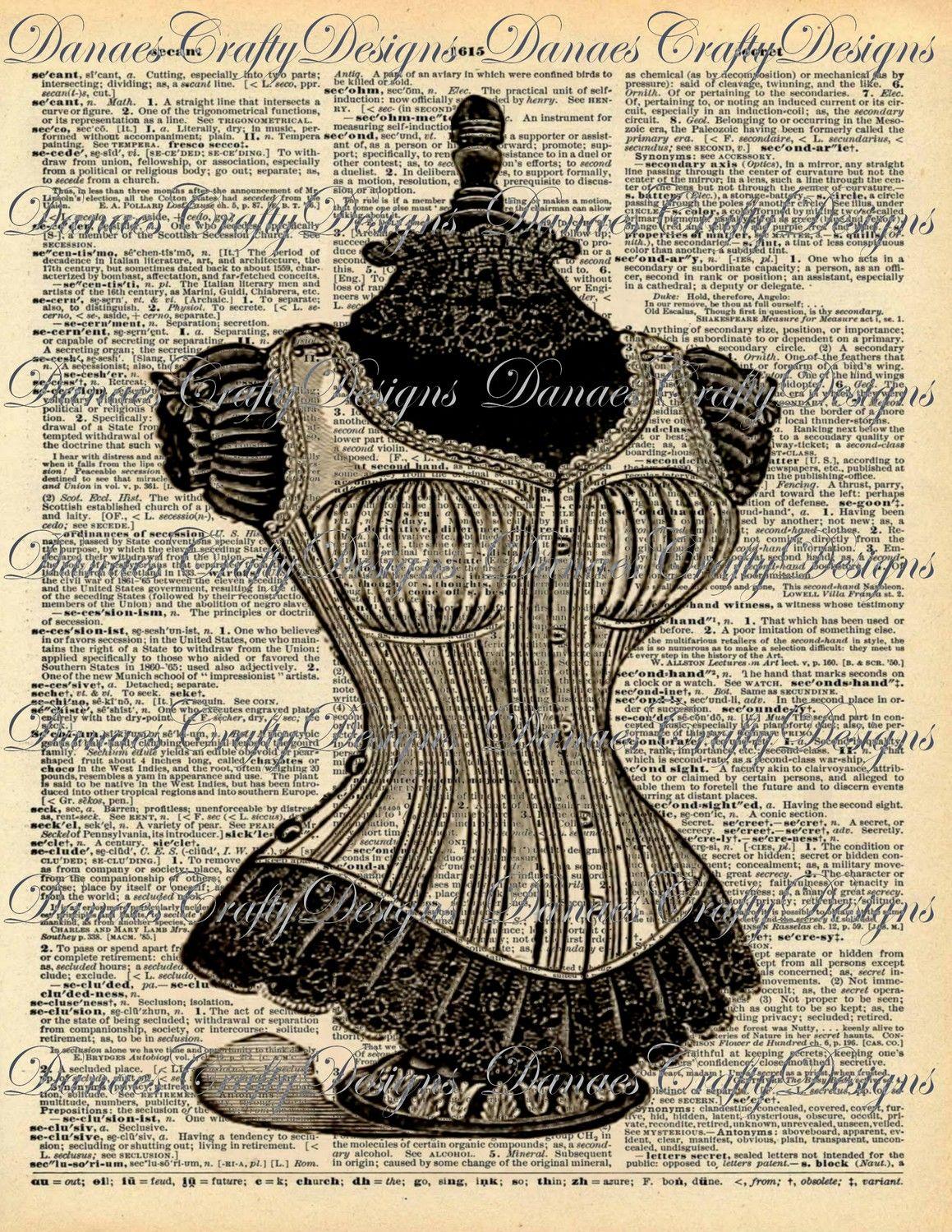 vintage corset images pinterest transfert impression sur tissu et id es de cartes. Black Bedroom Furniture Sets. Home Design Ideas