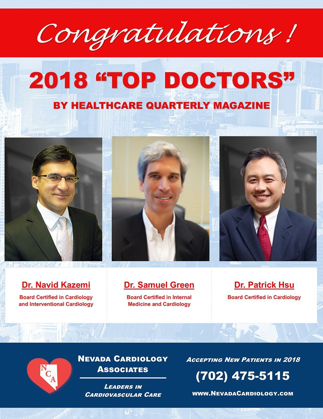 Congratulations to Dr. Kazemi, Dr Green, and Dr. Hsu for