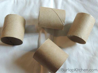 How to Turn Toilet Paper Tubes into Elegant Napkin Rings