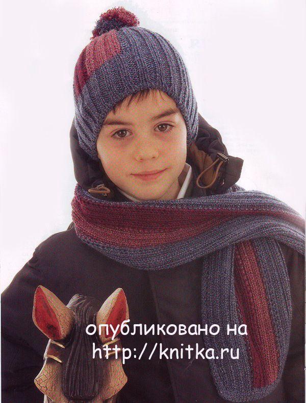 для и мальчика шапку шарф вязать