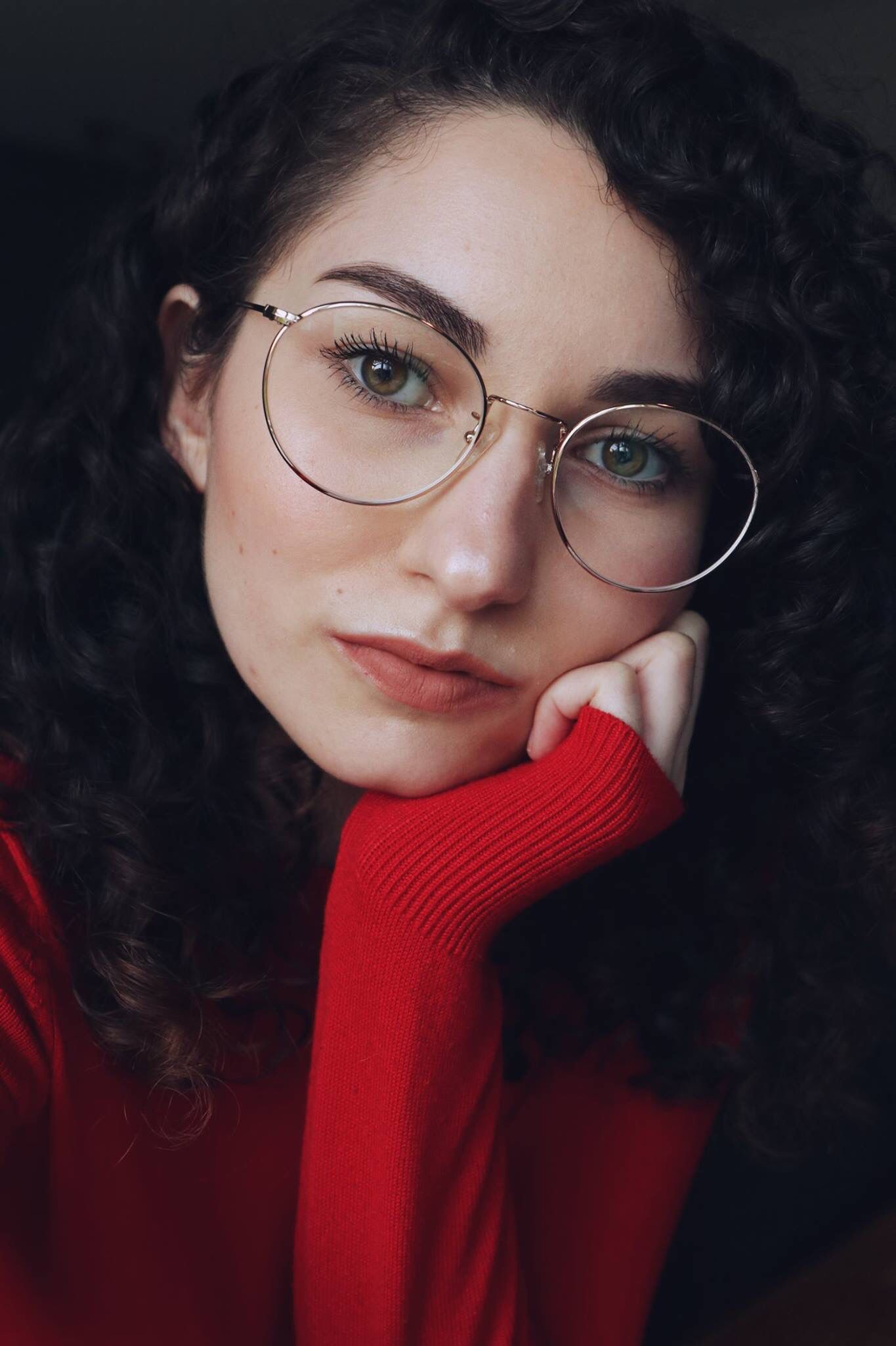 Round Glasses Curly Hair Styles Naturaly Curly Hair Glasses Makeup