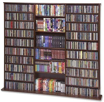 Cd Rack 1500 Veneer Walnut 63 3 4 H X 65 5 6 W X 9 1 2 D By