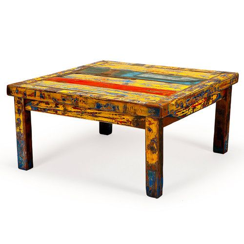 Hunky Dory Reclaimed Wood Coffee Table Reclaimed Wood Coffee Table - Wayfair reclaimed wood coffee table
