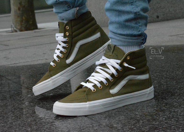 Vans SK8 Hi 'Burn Olive | Nice shoes, Fashion, Sneakers men ...