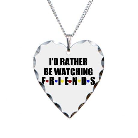 323897ffb7089 WATCHING FRIENDS Necklace Heart Charm | Friends (TV Show) | Friend ...