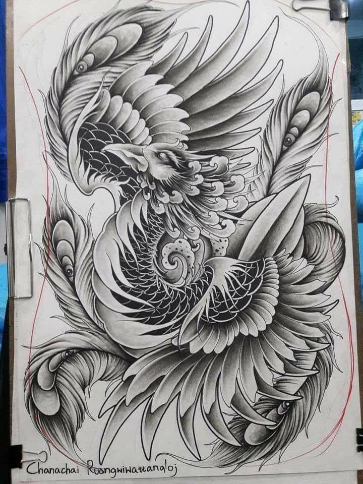 Pingl par don romton sur ink pinterest phoenix for Dragon lily tattoo