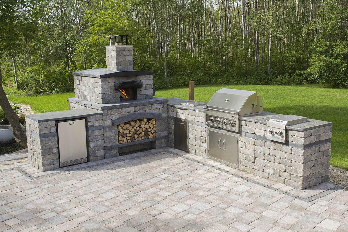 Harvest Grove Outdoor Kitchen In L Shape Configuration Pizza Oven Outdoor Brick Pizza Oven Outdoor Backyard Patio