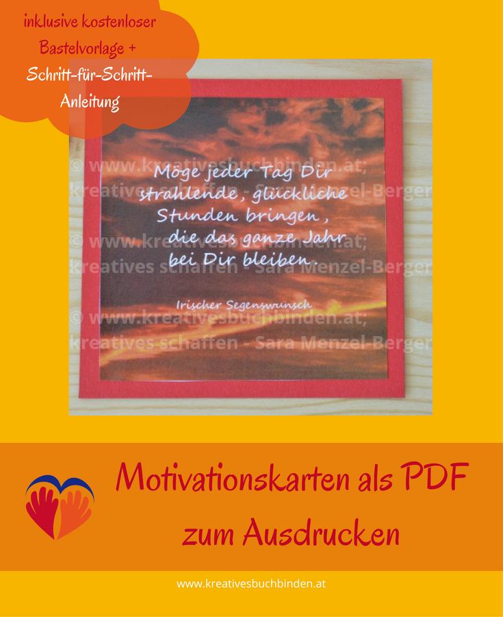 Motivationskarten Bastelideen Aus Papier